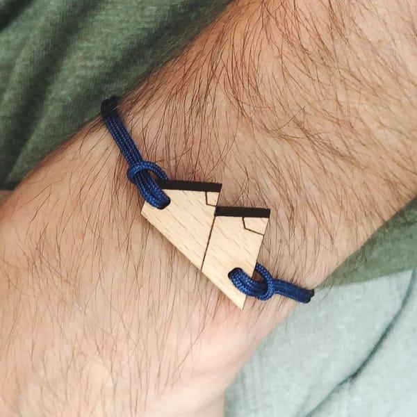 Bracelet en bois suisse recyclé Mountn