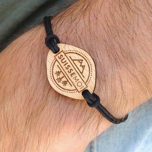 Bracelet en bois Suissemoi
