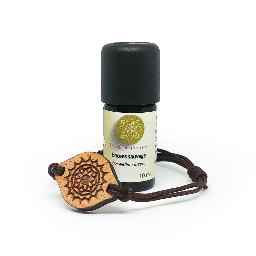 Coffret bracelet en bois diffuseur d'huiles essentielle 7 chakras Encens sauvage