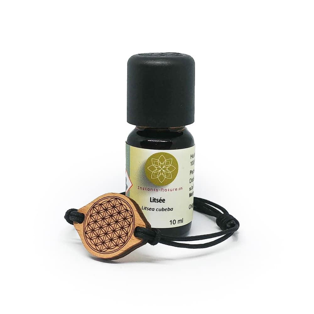 Coffret zen bracelet en bois et huile essentielle de Litsée