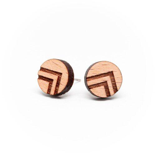 Clous d'oreilles en bois géométrique Indya
