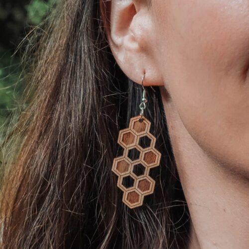Boucles d'oreilles en bois Abee