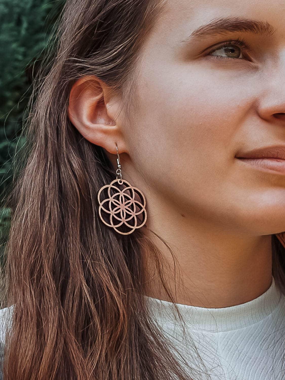 Boucles d'oreilles en bois Fiora