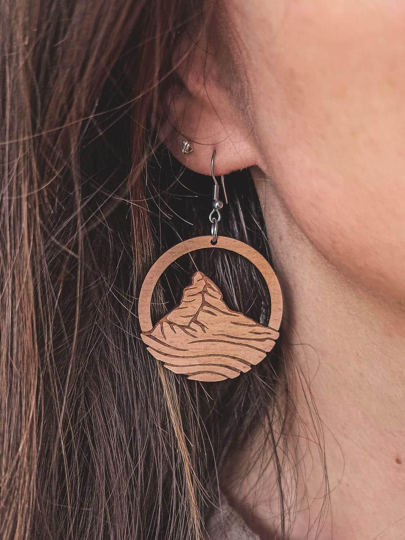 Boucles d'oreilles en bois Cervin