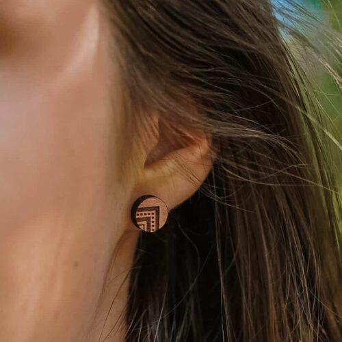 Clous d'oreilles en bois ethnique Indyana
