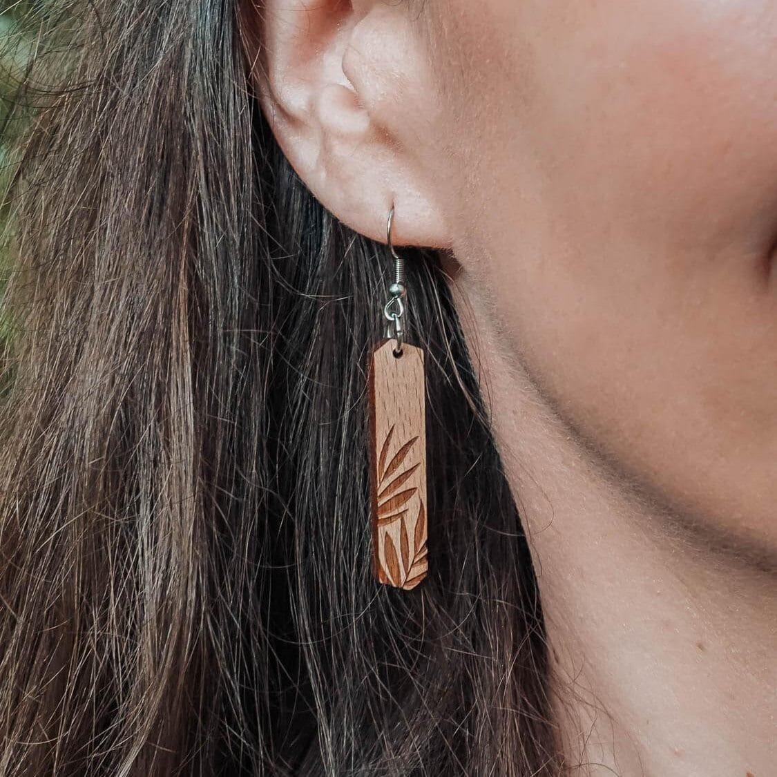 Boucles d'oreilles en bois Palma