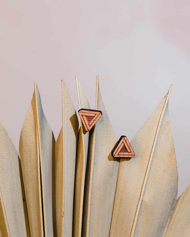 Clous d'oreilles en bois Penrosa