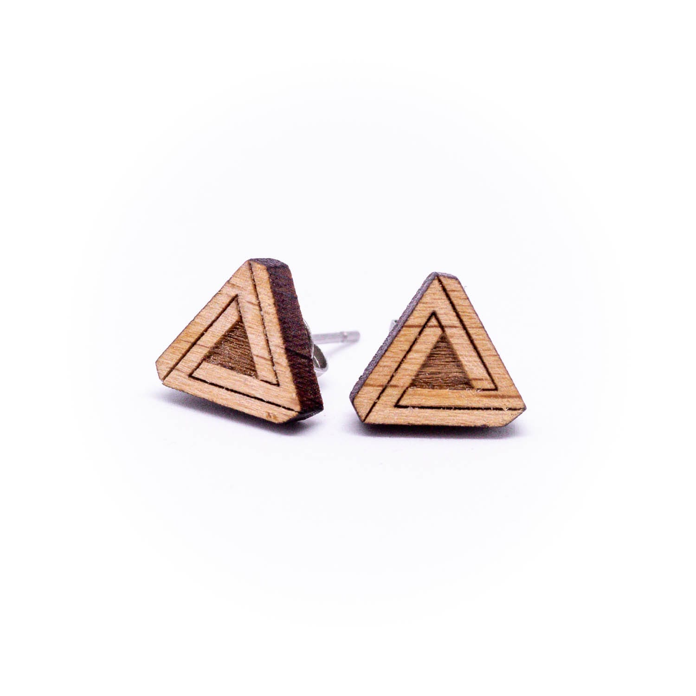 Clous d'oreilles en bois géométrique Penrosa