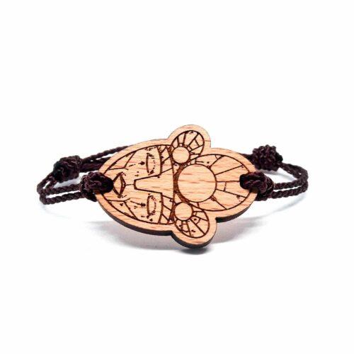 Bracelet en bois Aztec