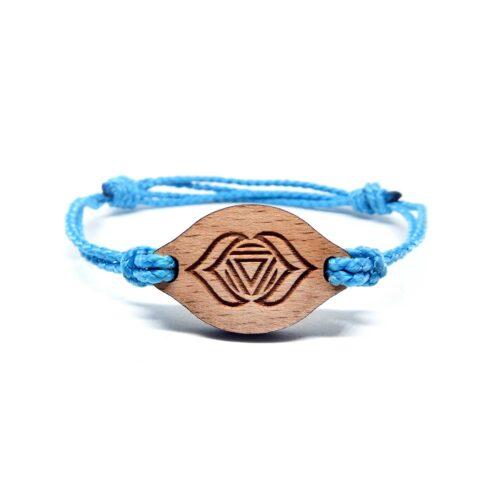 Bracelet en bois Chakra du 3eme oeil