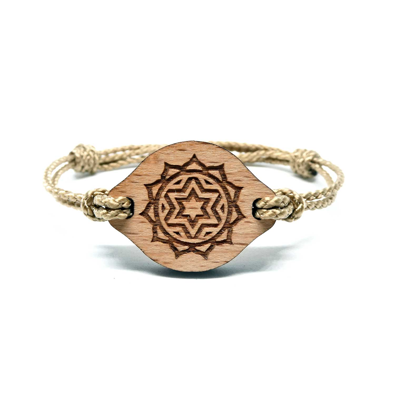 Bracelet en bois Chakra du coeur
