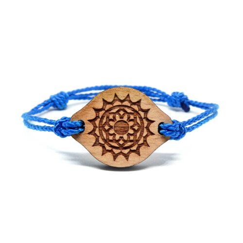 Bracelet en bois Chakra couronne
