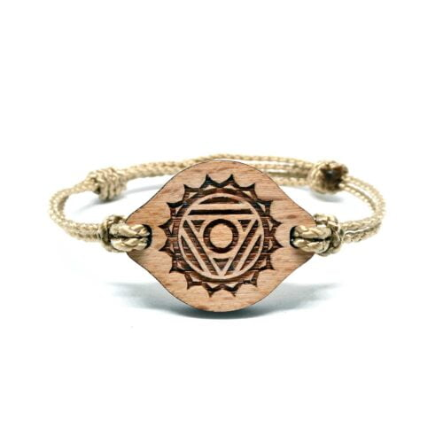 Bracelet en bois Chakra de la gorge