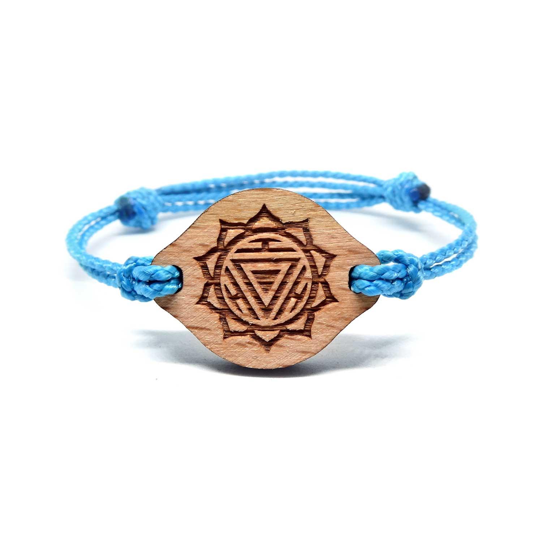 Bracelet en bois Chakra du plexus solaire