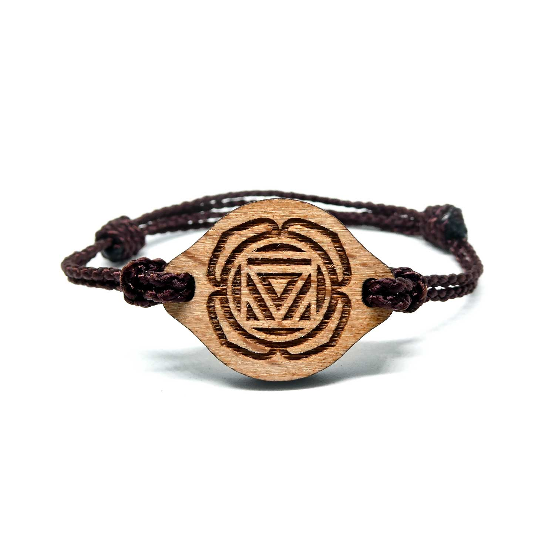 Bracelet en bois Chakra racine
