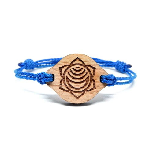 Bracelet en bois Chakra sacré
