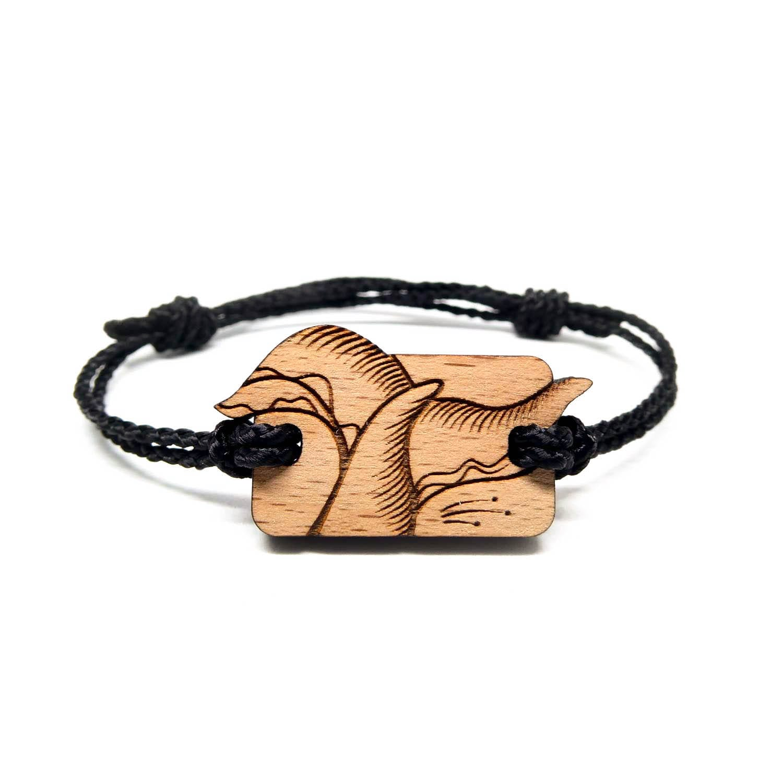 Bracelet en bois coeur de l'ocean