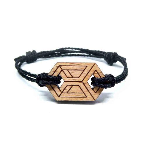 Bracelet en bois geometrique dazel