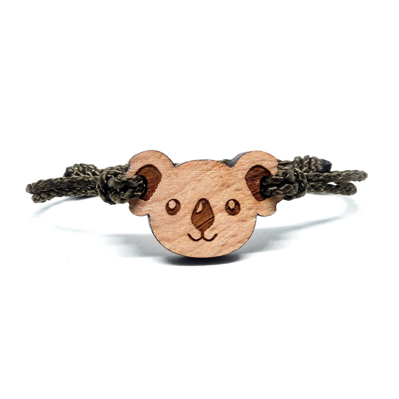 Bracelet en bois pour enfant koala