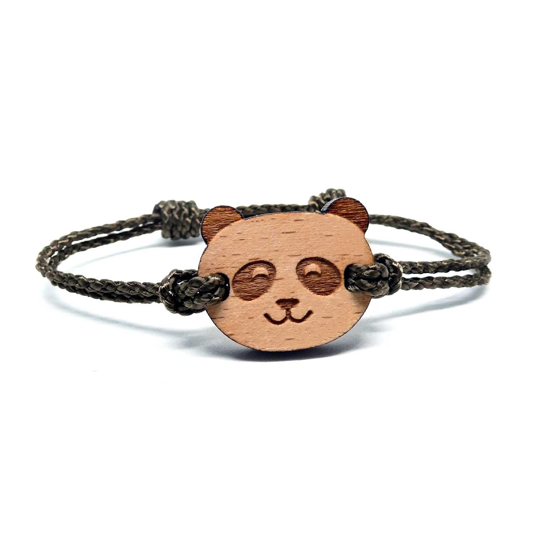 Bracelet en bois pour enfant panda