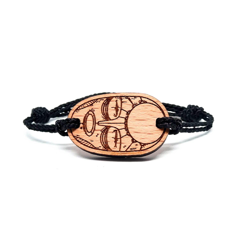 Bracelet en bois masque ethnique