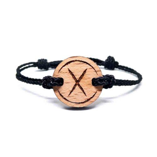 Bracelet en bois rune viking gebo