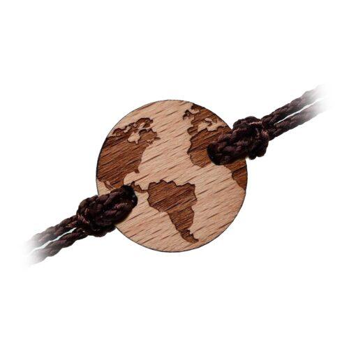 Bracelet en bois terre