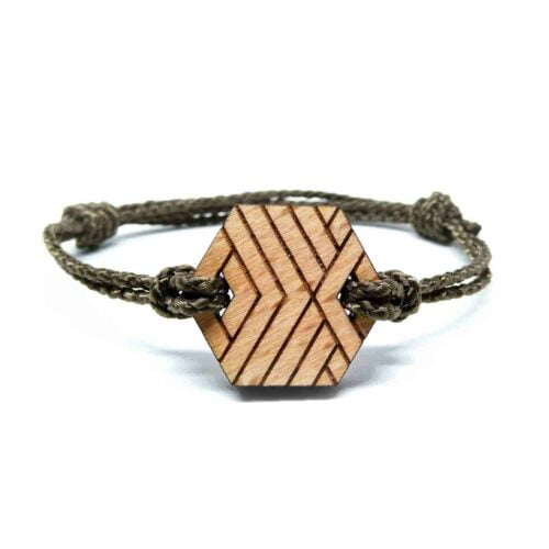 Bracelet en bois geometrique jeme