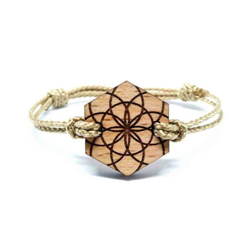 Bracelet en bois geometrique jomi