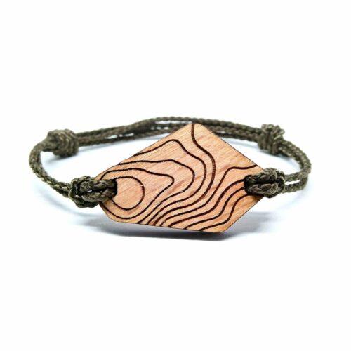 Bracelet en bois courbes de niveau