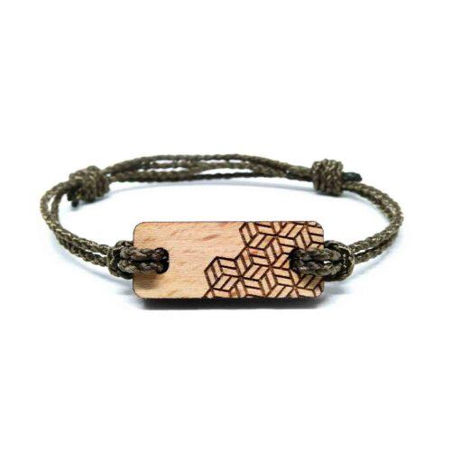 Bracelet en bois geometrique lyzi