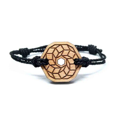 Bracelet en bois geometrique naby