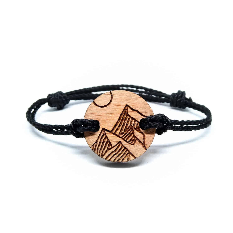 Bracelet en bois montagnes