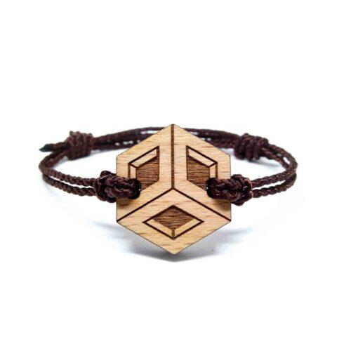 Bracelet en bois geometrique rova