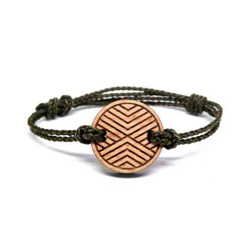 Bracelet en bois geometrique sajoo