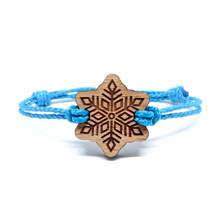 Bracelet en bois flocon de neige