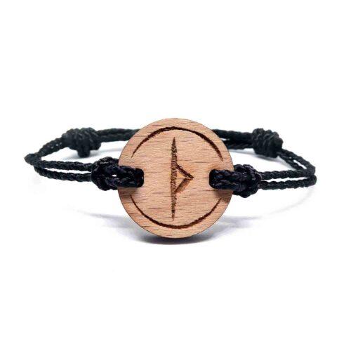 Bracelet en bois rune viking thurisaz