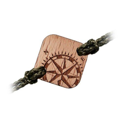 Bracelet en bois boussole
