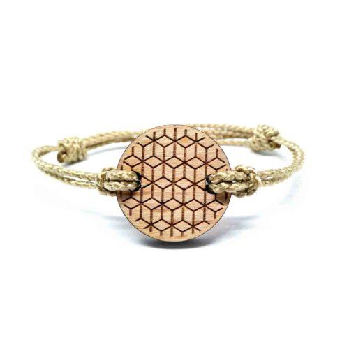 Bracelet en bois geometrique vada