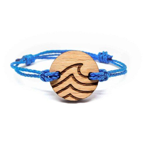 Bracelet en bois vague