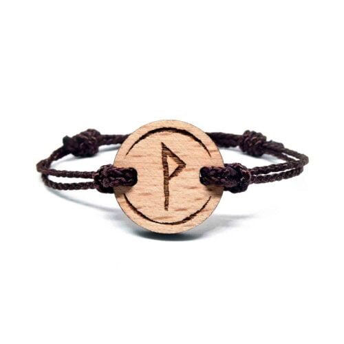 Bracelet en bois viking wunjo
