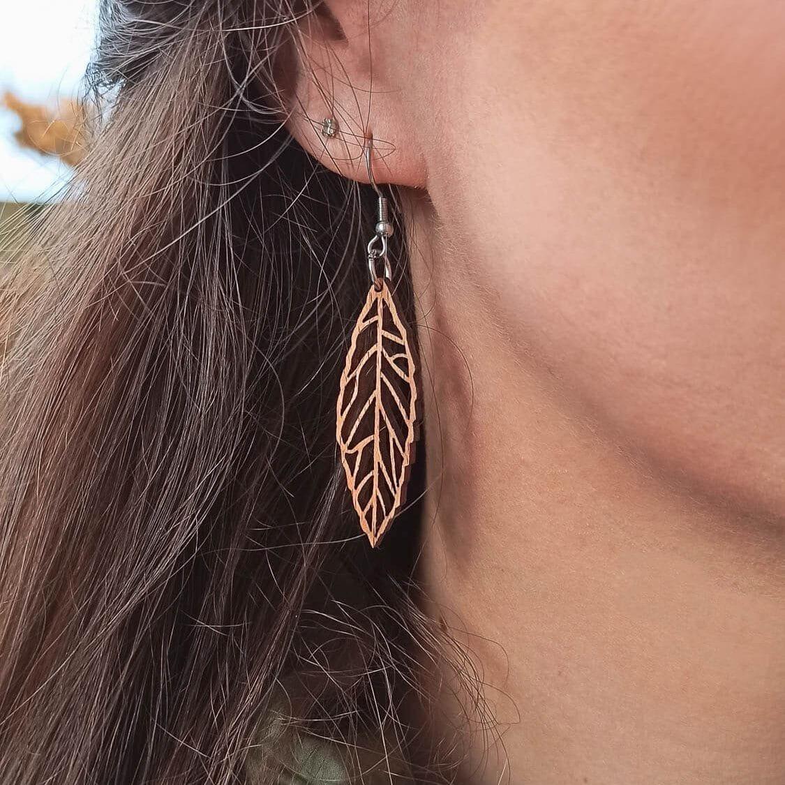 Boucles d'oreilles en bois Ekinox