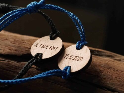 Bracelet en bois personnalisables avec un petit mot
