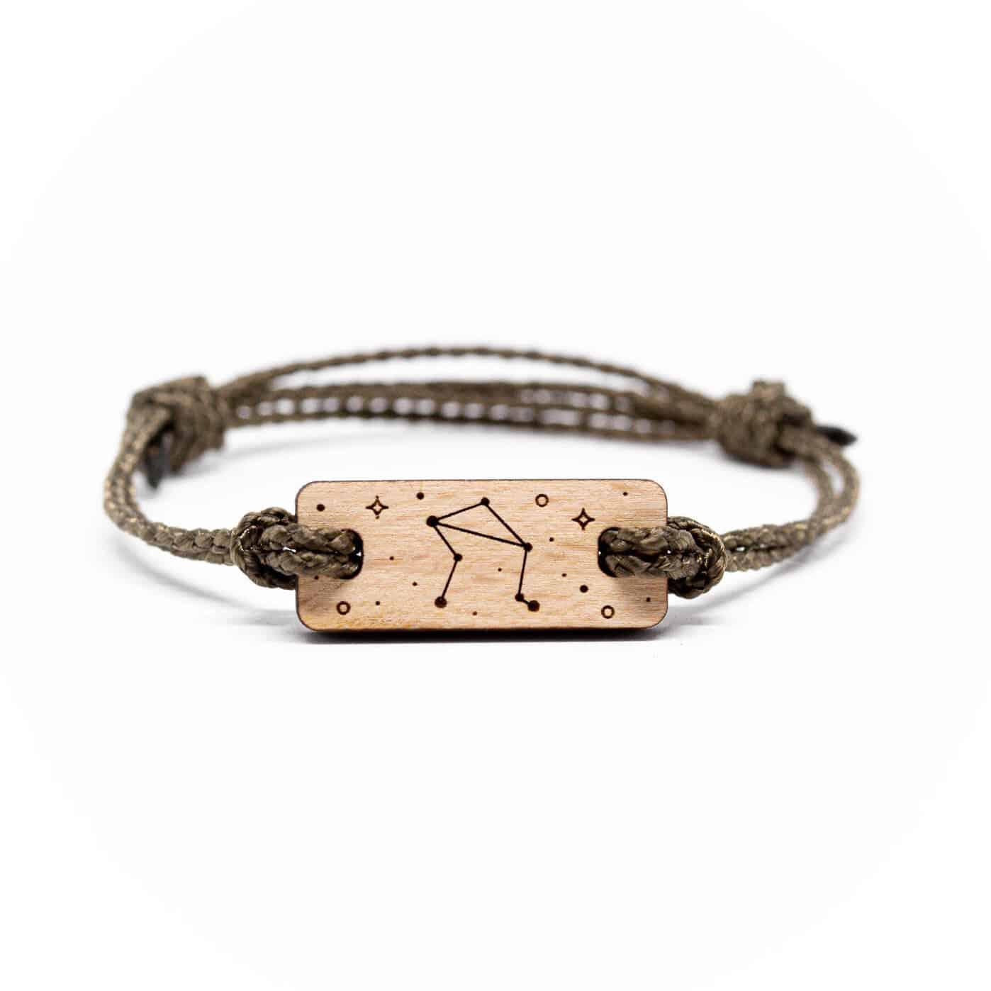 Bracelet en bois signe astrologique balance