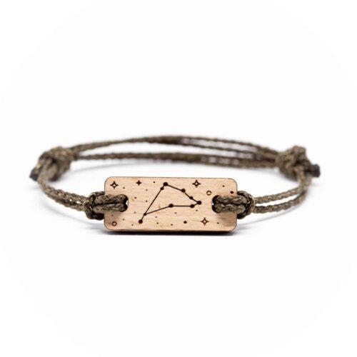 Bracelet en bois signe astrologique capricorne