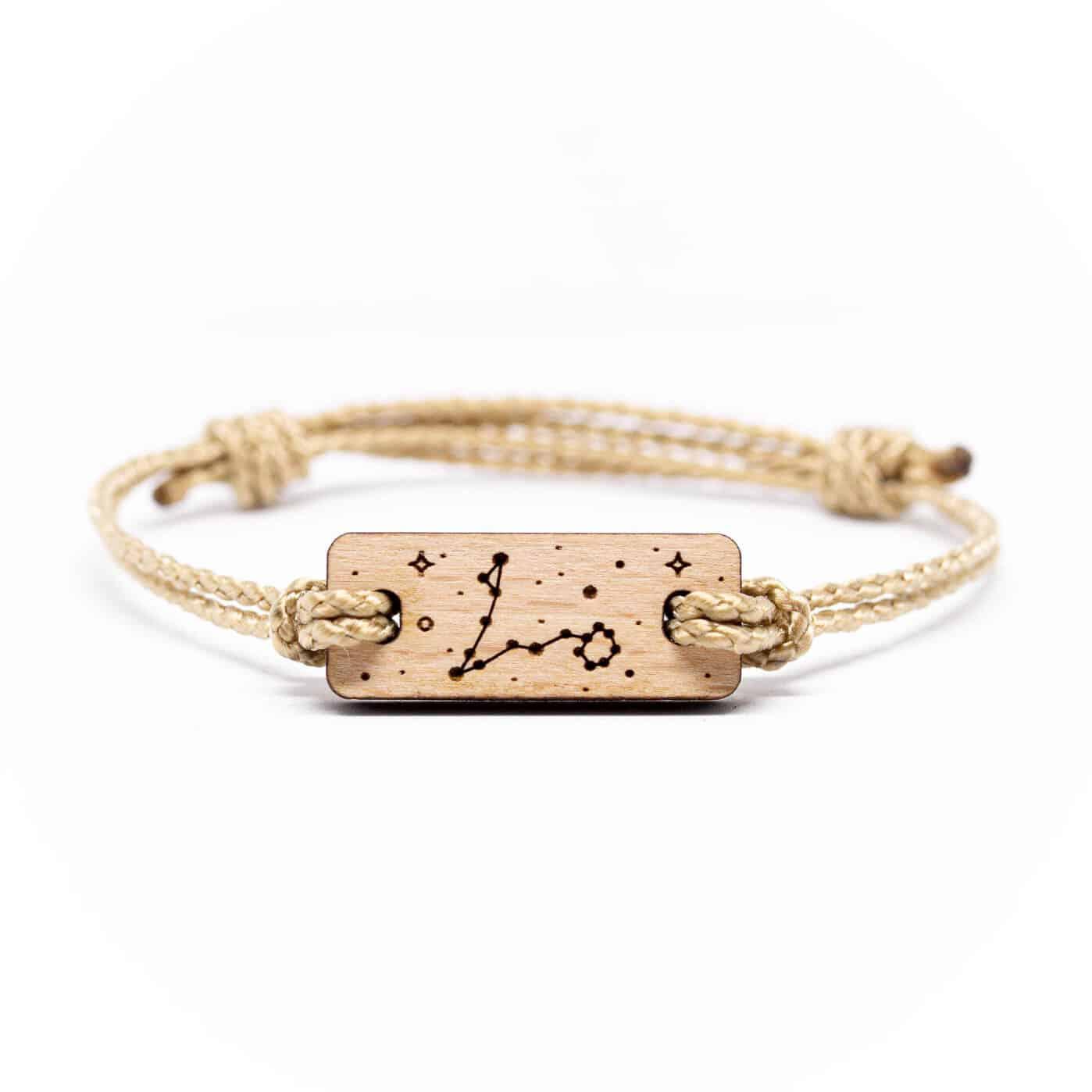 Bracelet en bois signe astrologique poisson
