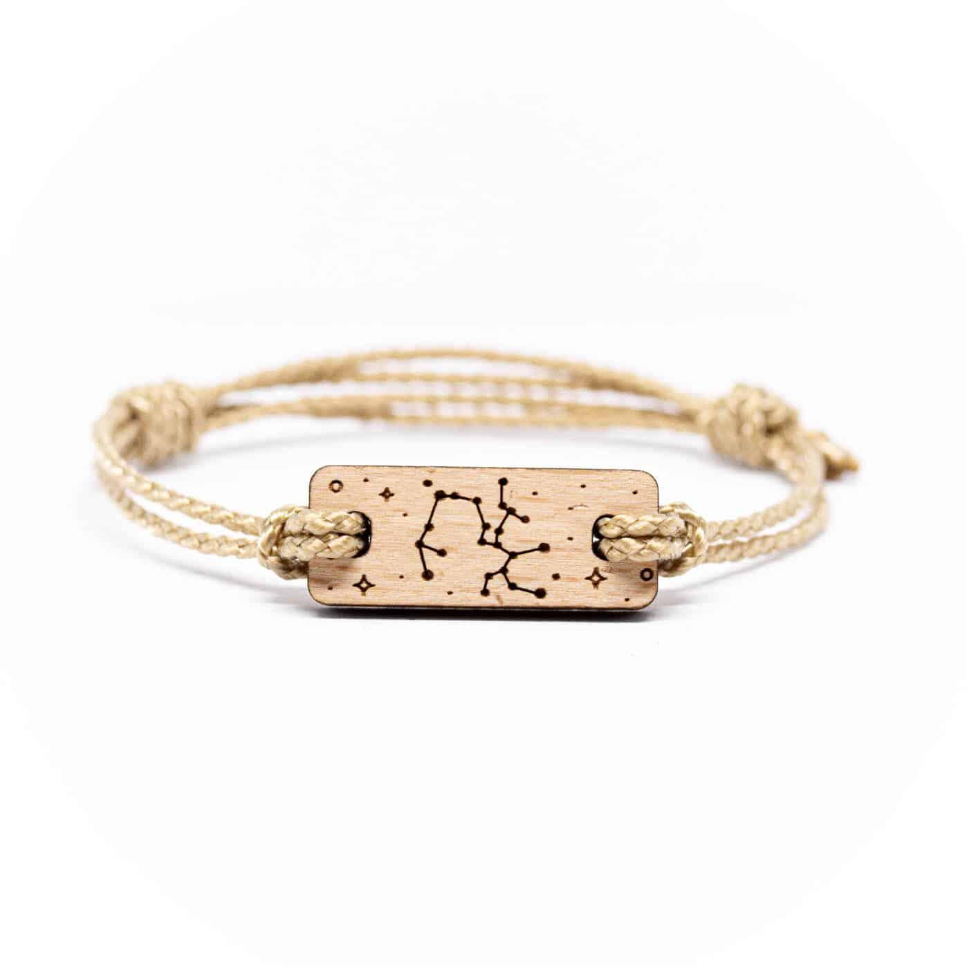 Bracelet en bois signe astrologique sagittaire