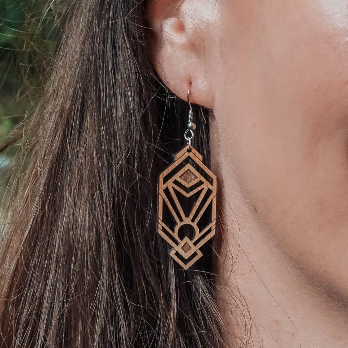 Boucles d'oreilles en bois Aurora