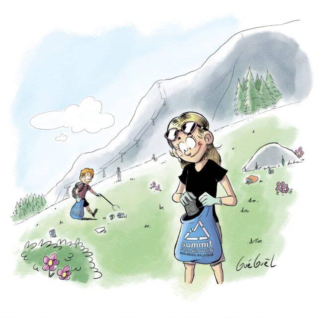 ⛰️ Un bijou acheté = 100m2 nettoyés en montagne grâce à @summitfoundation .  👍 Cette ONG s'engage depuis 2001 pour la protection de l'environnement en montagne et en particulier dans la prévention du littering.  ❤️ Cela nous tenait à cœur de créer tout en contribuant à une belle cause.  Les connaissez-vous ?  Merci à @theartofgueguel pour sa belle illustration ! 😊  #bijouxenbois #createur #createursuisse #illustration #ecofriendly #ecoresponsable #cleanuptour #clean #cleanup #artisanal #produitsuisse #sustainable #durable #ecoresponsable #littering #valaiswallis #montagne #swissmountains #responsable